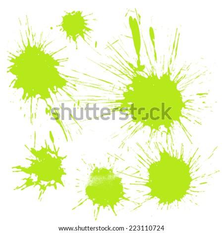 Paint Splashes - stock vector