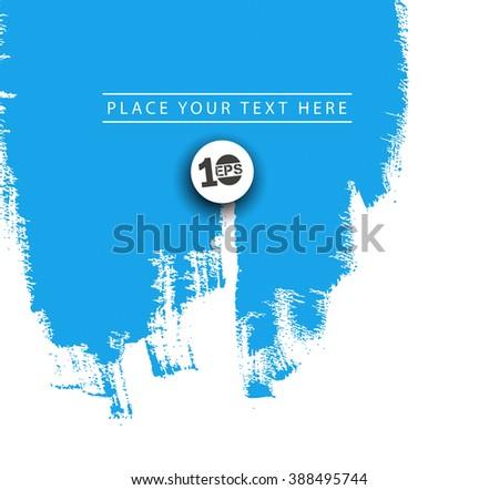 Paint splashes of design Isolated on white background - stock vector