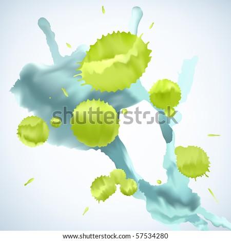 paint splat background - stock vector