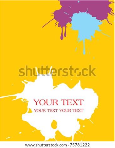 Paint Splats Background (splashing watercolor) - stock vector