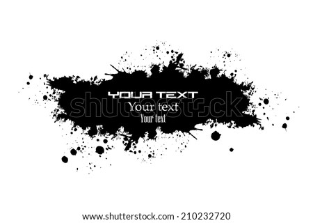 Paint stains black blotch. Vector - stock vector