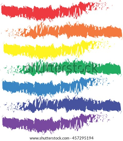 paint the colors of the rainbow - stock vector