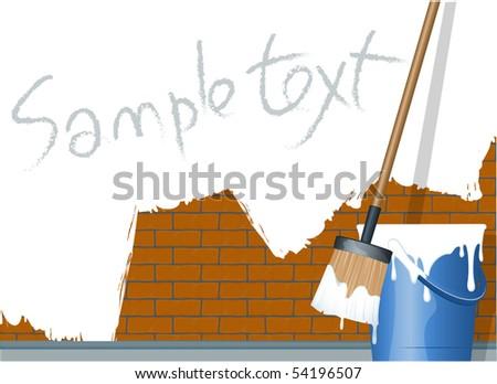 Paint. Vector. - stock vector