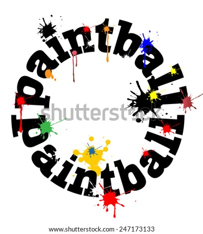 Paintball concept vector design