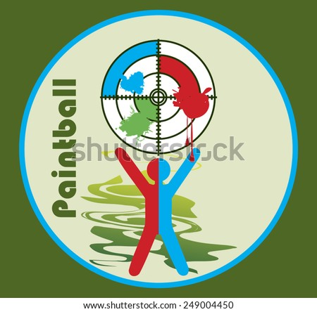 Paintball target - stock vector