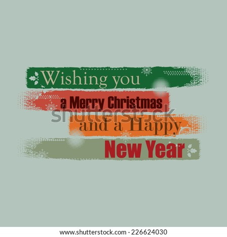 Paintbrush stroke background vintage color theme holidays greetings - stock vector