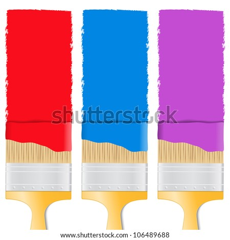 Paintbrushes, vector eps10 illustration - stock vector