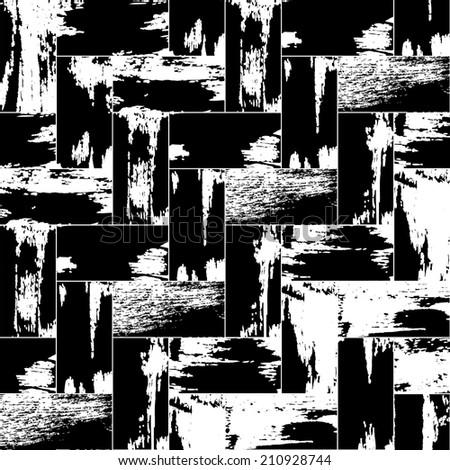 Painted herringbone pattern - stock vector