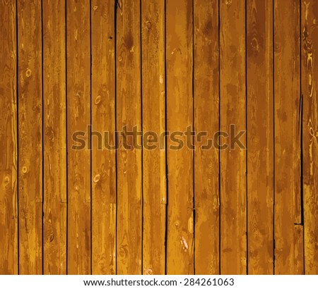 painted old wooden wall. background, vector