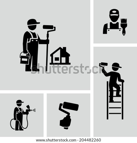Painter - stock vector