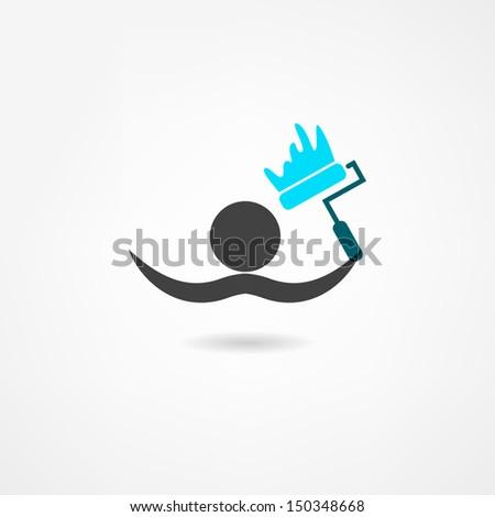painter icon - stock vector