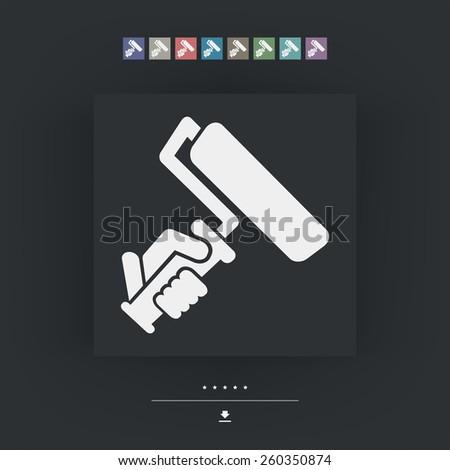 Painter roll symbol - stock vector