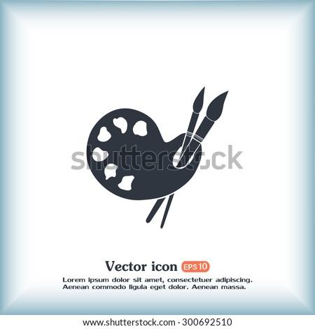 painter vector icon - stock vector