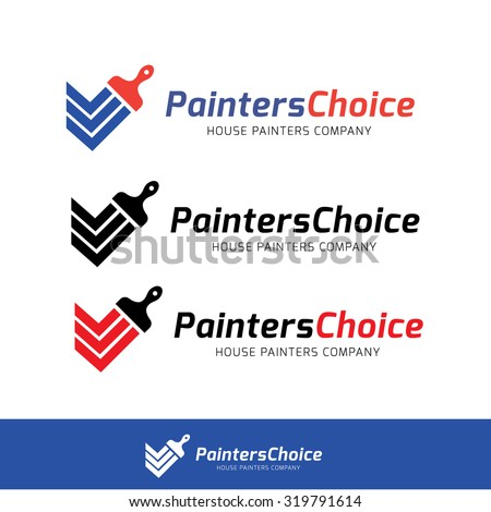 Painters choice,house paint,repair,painting services,painting logo,home,house,Vector logo template - stock vector