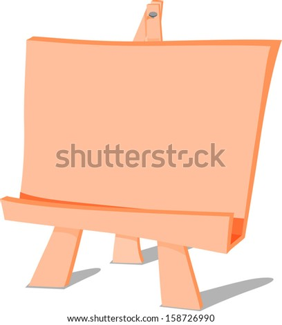 painting easel cartoon drawing - stock vector