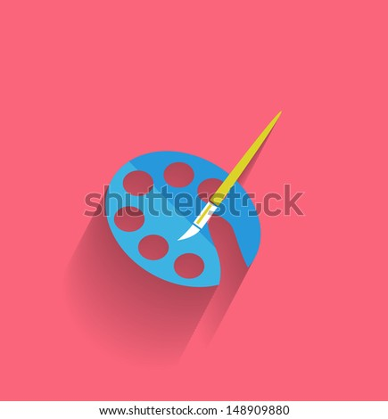 Painting icon concept vector flat design
