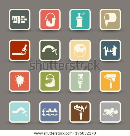 Painting Icons.vector eps10 - stock vector