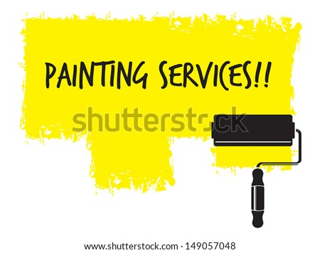 Painting service - stock vector