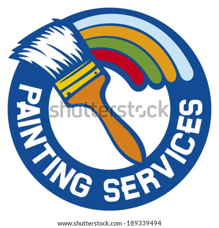 painting services label (painting services symbol)  - stock vector