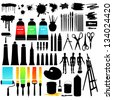Painting set - stock vector