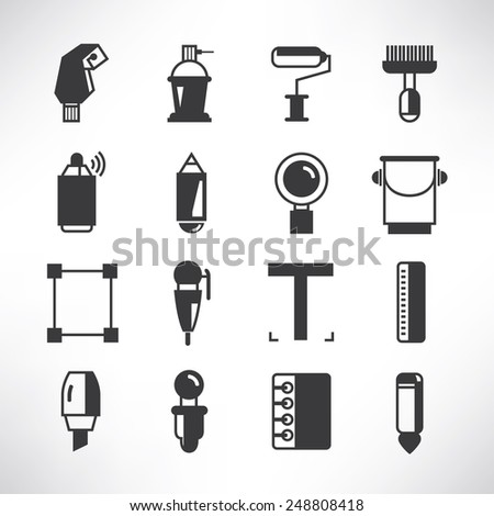 painting tools - stock vector