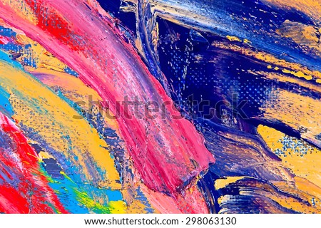painting vector illustration. Oil on canvas texture. abstract background. brushstrokes