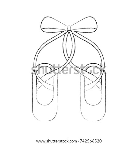 Laser cut paper christmas bell christmas stock vector 496139131 shutterstock for Ballet shoes christmas decoration
