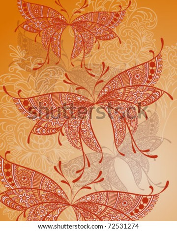 Paisley Butterfly - stock vector