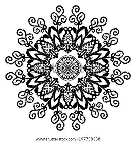 Paisley Floral Design  - stock vector