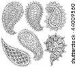 Paisley Illustrations - stock vector