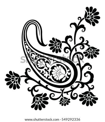 paisley indian motif stock vector 2018 549292336 shutterstock rh shutterstock com paisley vector free download paisley vector free