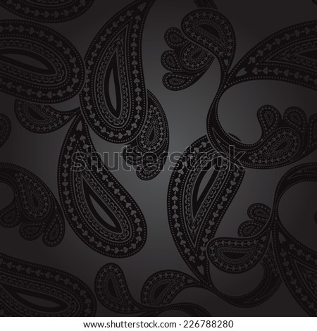paisley pattern in vector format, individual objects very easy to edit  - stock vector
