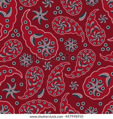 Paisley pattern. Indian cucumber. Oriental decorative ornament