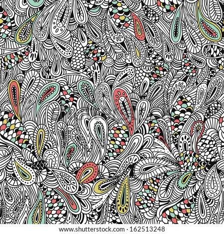 Paisley-style vector seamless pattern. - stock vector