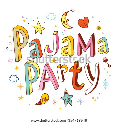 pajama party - stock vector