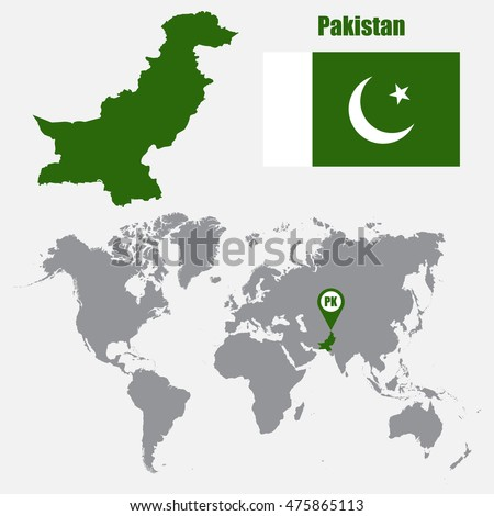 Pakistan Map Stock Images RoyaltyFree Images Vectors - World map pakistan