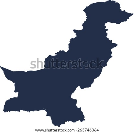Pakistan Vector map. High detailed.  - stock vector