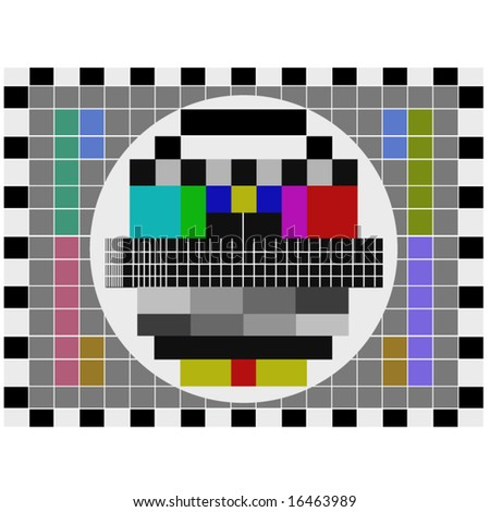 PAL tv pattern signal for test purposes - also available as JPEG - stock vector