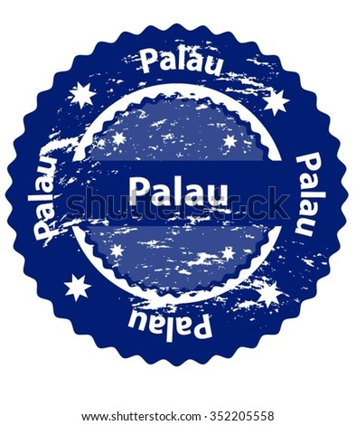Palau Country Grunge Stamp - stock vector