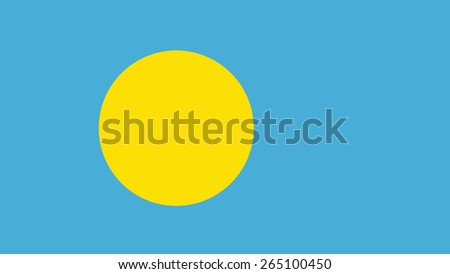 palau Flag for Independence Day and infographic Vector illustration. - stock vector