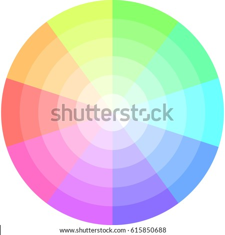 Palette Pastel Colors Vector Pie Chart Stock Vector Royalty Free