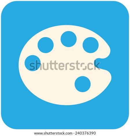 Palette, vector icon flat design - stock vector