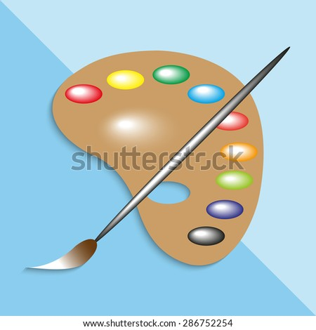 Palette. Vector illustration.