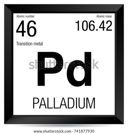 Palladium Symbol Element Number 46 Periodic Stock Vector Hd Royalty