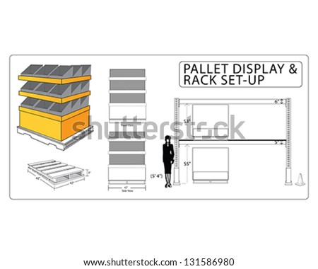 Pallet Rack 1 - stock vector