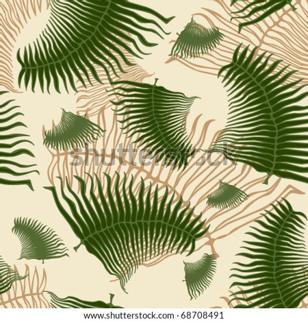 Palm leaf seamless pattern. - stock vector