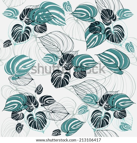 Palm leaves pattern.