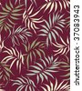 Palm leaves - seamless pattern - stock vector