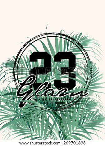 Palm print in vector - stock vector