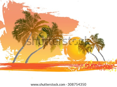 palm tree at sunset